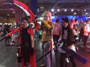 RWBY- Ruby Rose, Yang Xiao Long and Blake Belladonna (Credit: Emily Rice-Adams)